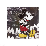 Micky Mouse Chalk Reproduction d'art