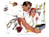 "Even Doctors Are Human  - Saturday Evening Post ""Leading Ladies""  April 3  1954 pg26"