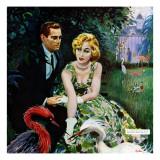 "The Business of Love - Saturday Evening Post ""Leading Ladies"", April 6, 1957 pg.26 Giclée par George Hughes"