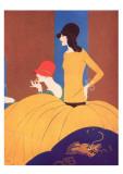 Art Deco Two Women Doing Make Up