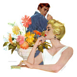 """Anniversary Quarrel - Saturday Evening Post """"Leading Ladies""""  October 20  1956 pg33"""