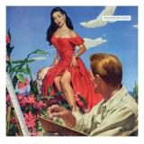 "The Desert Orchird  - Saturday Evening Post ""Leading Ladies""  December 6  1952 pg43"