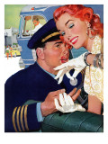 "The Pilot Hated Stewardesses - Saturday Evening Post ""Leading Ladies""  May 15  1954 pg36"