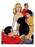 """The Mystery of X - Saturday Evening Post """"Leading Ladies""""  October 1  1955 pg35"""