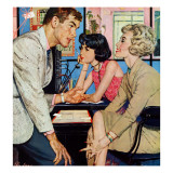 """New Girl  - Saturday Evening Post """"Men at the Top""""  August 8  1959 pg21"""