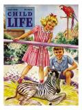 Baby Zebra - Child Life  May 1946