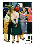 """The Girl He Remembered - Saturday Evening Post """"Men at the Top""""  June 15  1957 pg26"""