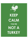 Keep Calm You're Not a Turkey