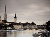 Switzerland  Zurich  Old Town and Limmat River
