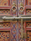 Door in the Old Medina of Fes  Morocco