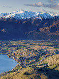 The Remarkables Ski Field Towards Arrowtown, Queenstown, Central Otago, South Island, New Zealand Papier Photo par Doug Pearson