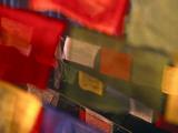 Prayer Flags Festoon the Stupa at Boudinath, a Centre of Tibetan Buddhism, Kathmandu, Nepal Papier Photo par Paul Harris