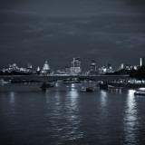 Waterloo Bridge and River Thames  London  England