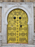 Tunisia  Tunis  Medina  Door on Dar El Jeld Street