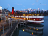 Tss Earnslaw and the Remarkables  Queenstown  Central Otago  South Island  New Zealand