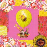 Hot-Air Balloon Trip Reproduction d'art par Mademoiselle Tralala