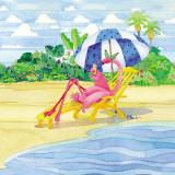 Deck Chair Flamingo