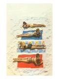 Bathing Beauties on Beach Towels