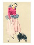 Fashionable Woman with Pomeranian