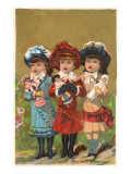 Three French Girls with Dolls