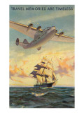 Travel Memories are Timeless  Airplane and Sailing Ship