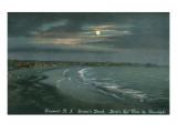Moon over Newport  Rhode Island