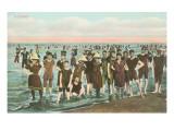 Crowds of Vintage Bathers