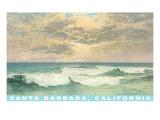 Waves at Santa Barbara  California
