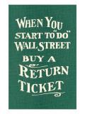 Wall Street  Return Ticket