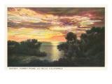 Sunset  Torrey Pines  San Diego County  California