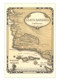 Old Map of Santa Barbara  California