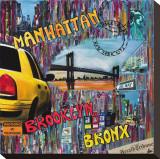 Manhattan Brooklyn Tableau sur toile par Sophie Wozniak