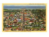 View over Santa Barbara  California