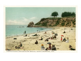 Beach Scene  Santa Barbara  California