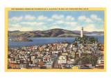 Coit Memorial Tower  Telegraph Hill  San Francisco  California
