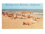 Beach Scene  Greetings from Encinitas  California