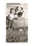Toddler with Stuffed Panda