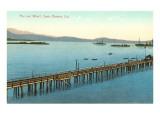 Pier and Wharf  Santa Barbara  California