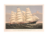 Clipper Ship Three Brothers  2972 Tons  Largest Sailing Ship in the World