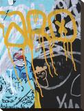Yellow Aqua Graffiti I Tableau sur toile par Jenny Kraft