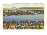 Lakes Mendota and Monona  Madison  Wisconsin