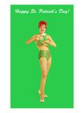 Happy St Patrick's Day  Bikini Girl