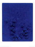 Blaues Schwammrelief (Relief Éponge Bleu: RE19), 1958 Reproduction d'art par Yves Klein