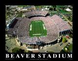 Stade de Beaver - Pennsylvanie Reproduction d'art par Mike Smith
