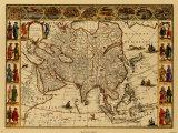 Anciennes cartesIII Reproduction d'art par Willem Janszoon Blaeu