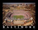 Baltimore: jour d'ouverture au stade de Raven Reproduction d'art par Mike Smith