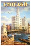 Chicago Reproduction d'art par Kerne Erickson