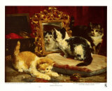 Chatons, 1893 Reproduction d'art par Charles Van Den Eycken
