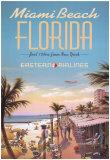 Miami Beach Reproduction d'art par Kerne Erickson