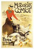Motocycles Comiot Reproduction d'art par Théophile Alexandre Steinlen